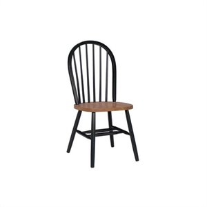 Windsor Dining Chair in Black and Soft Cherry