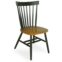 International Concepts Copenhagen Dining Side Chair in Black and Cherry