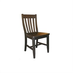 International Concepts Schoolhouse   Dining Chair in Black Finish (Set of Two)
