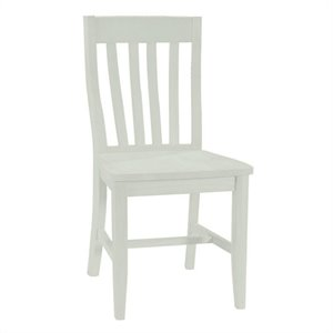 School House Dining Chair in Linen White (Set of Two)