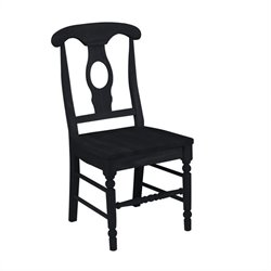 International Concepts Empire   Dining Chair in Black Finish (Set of Two)