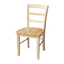 International Concepts Madrid Ladderback   Dining Chair in Natural Finish (Set of 2)
