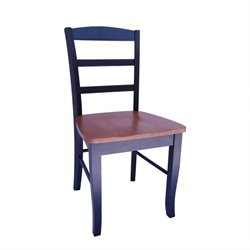International Concepts Madrid   Dining Chair in Black and Cherry Finish (Set of 2)