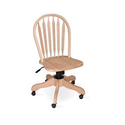 International Concepts Windsor Arrowback Office Chair with Swivel Base