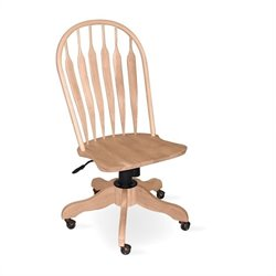 International Concepts Steambent Windsor Office Chair with Base