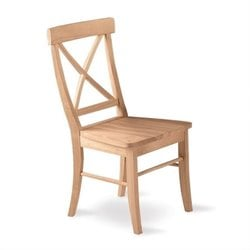 International Concepts Unfinished X-Back Dining Chair (Set of 2)