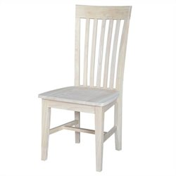 International Concepts Unfinished Tall Mission Wood Chair (Set of 2)