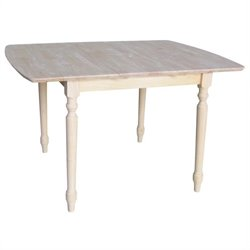 International Concepts Unfinished Square/Rectangular Dining Table