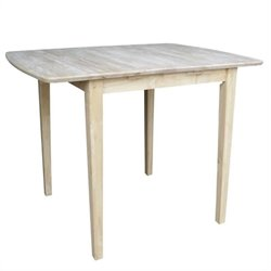 International Concepts Unfinished Square/Rectangular Counter Height Dining Table