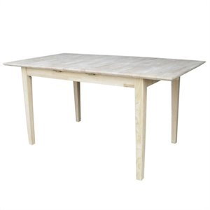 Unfinished Rectangular Shaker Dining Table