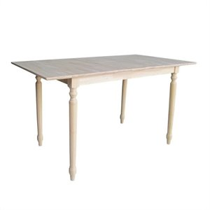 Unfinished Turned Leg Counter Height Dining Table