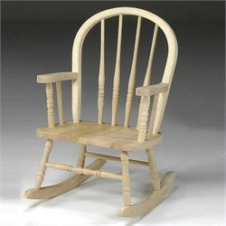 International Concepts Unfinished Windsor Rocker
