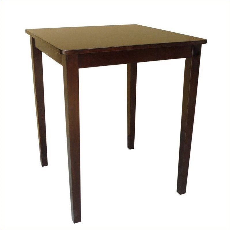 Shaker Counter Height Table in Rich Mocha