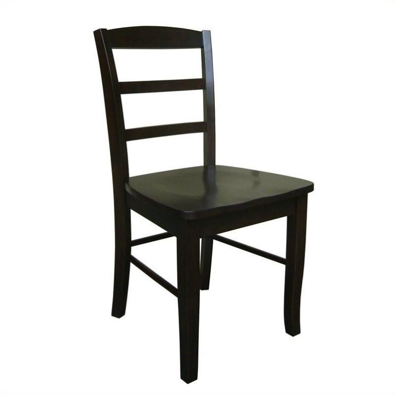 Ladderback Dining Chair in Rich Mocha(set of 2)