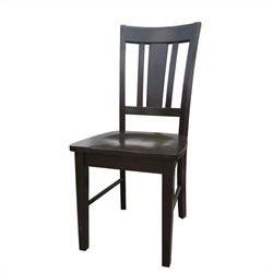 International Concepts San Remo Splat Dining Side Chair in Rich Mocha (set of 2)