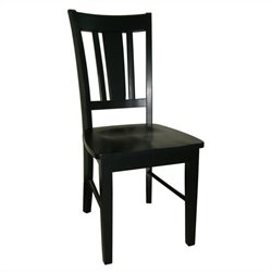 International Concepts San Remo Splatback Chair in Black (set of 2)