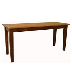 International Concepts Shaker Styled Bench in Cinnamon/Espresso