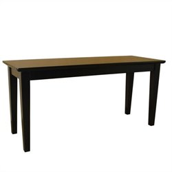 International Concepts Shaker Styled Bench in Black