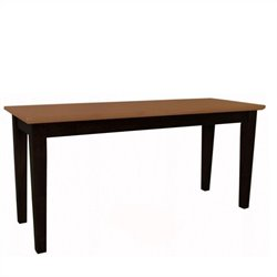 International Concepts Shaker Styled Bench in Black/Cherry