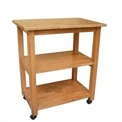 International Concepts Microwave Cart in Medium Oak