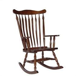 International Concepts Solid Wood Rocker in Cherry