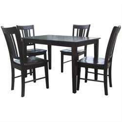 5 Piece Shaker Dining Set in Rich Mocha