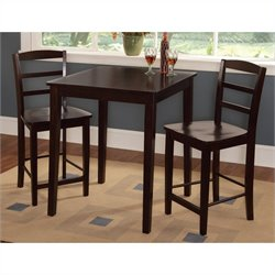 International Concepts 3 Piece Gathering Height Dining in Rich Mocha