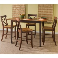 5 Piece Dining Set in Cinnamon/Espresso