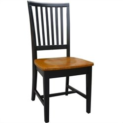 International Concepts Mission  Dining Chair in Black/Cherry (Set of 2)
