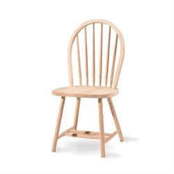 Unfinished Windsor Spindle-Back Dining Chair