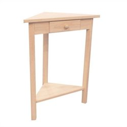 International Concepts Unfinished Corner Accent Table