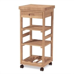 International Concepts Unfinished Kitchen Trolley