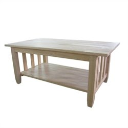 International Concepts Unfinished Mission Tall Coffee Table