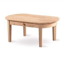 International Concepts Unfinished Phillips Oval Coffee Table