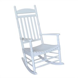 Porch Rocker Solid Wood White