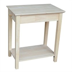 International Concepts Home Accents Unfinished Narrow 1-Drawer End Table