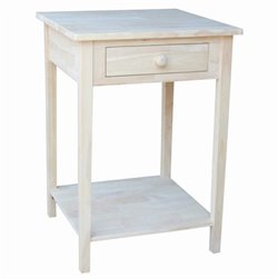 International Concepts Home Accents Unfinished 1-Drawer Hampton Bedside Table
