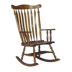 International Concepts Home Accent Solid Wood Rocker in Espresso
