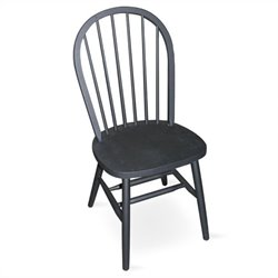 International Concepts Spindleback Windsor Wood Side Chair in Black Finish