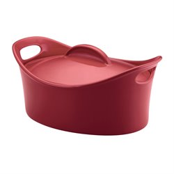 Rachael Ray Stoneware 4.25 qt. Casserole Dish in Red
