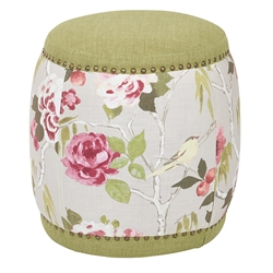 Office Star Ave Six Upholstered Stool in Basil