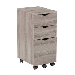 Office Star OSP Designs File Cabinet in Dark Driftwood