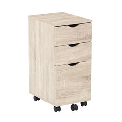 Office Star OSP Designs File Cabinet in Light Driftwood