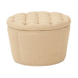 Office Star OSP Accents Upholstered Nesting Ottoman in Milford Maize