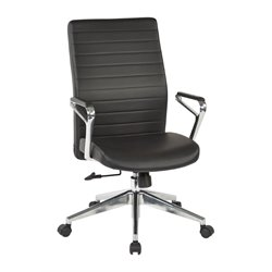 Bonded Leather Managers Chair in Black