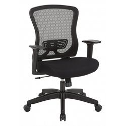 Office Star Space Seating Mesh Back Managers Chair in Black