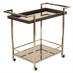 Bar Cart in Bronze and Champagne