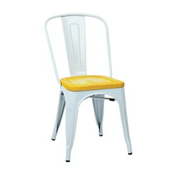 Office Star Work Smart Bristow Stacking Chair in Ash Yellowstone (Set of 4)