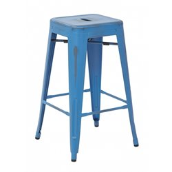 Office Star Work Smart Bristow Counter Stool in Antique Royal Blue (Set of 4)