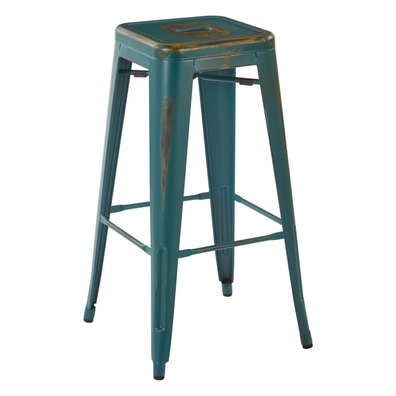 30 Bar Stool In Antique Turquoise Set Of 4 Brw3030a4 Atq